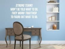 """Wall Quote """"Work Together..."""" Motivational Sticker Leader Decal Decor Transfer"""